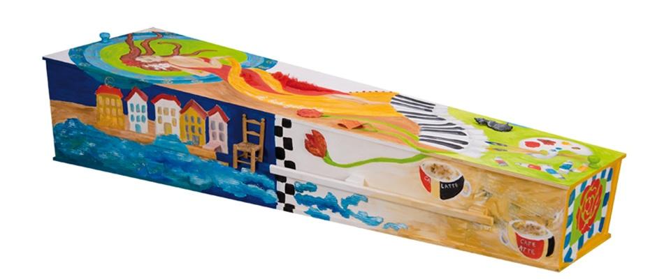 Kist beschilderd