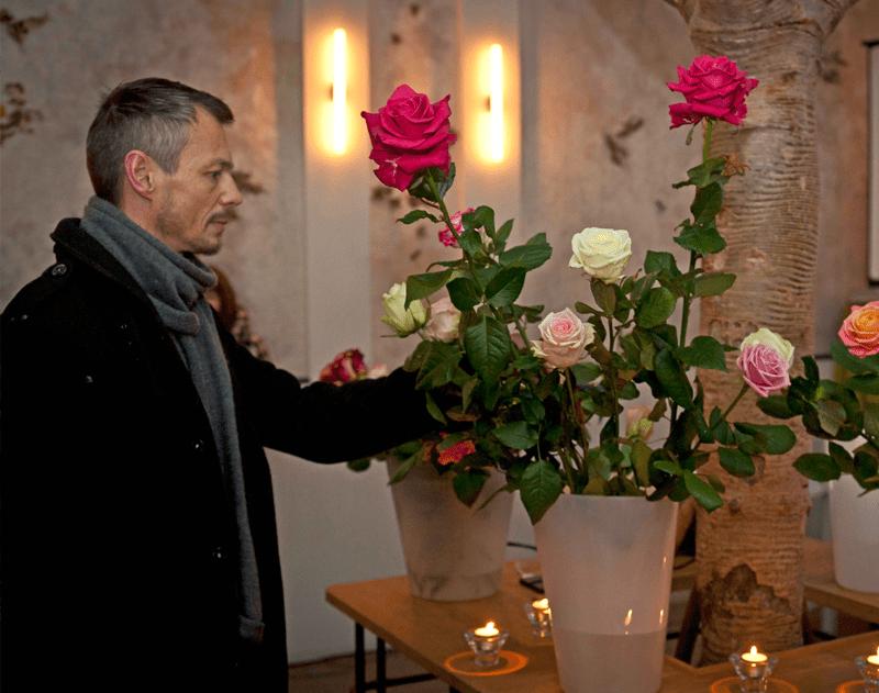 Afscheid met rozen
